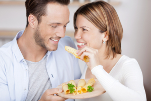 couple eating cheese