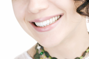 woman smiling healthy teeth